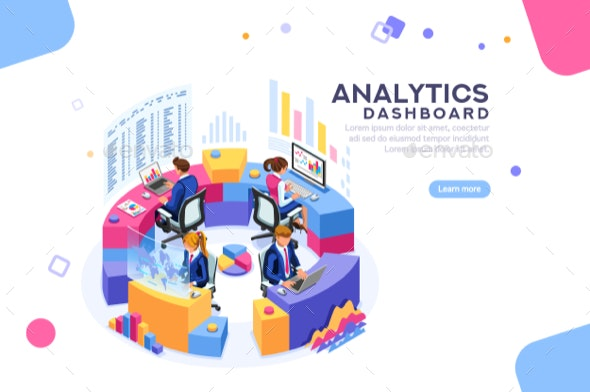 Analytics Dashboard Template Banner - Concepts Business