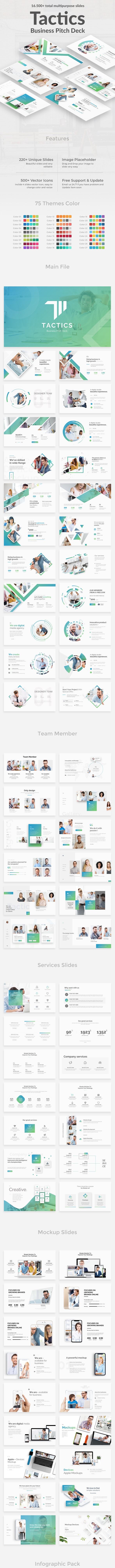 Business Tactics Pitch Deck Powerpoint Template - Business PowerPoint Templates