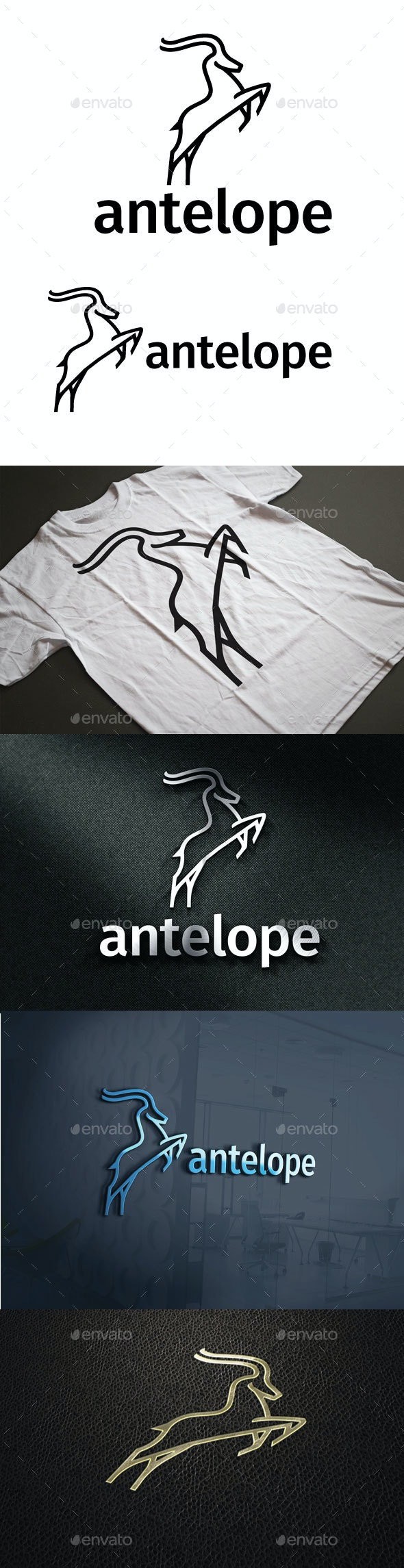 Antelope Logo - Animals Logo Templates