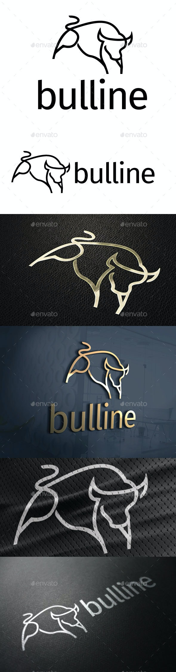 Bulline Logo - Animals Logo Templates