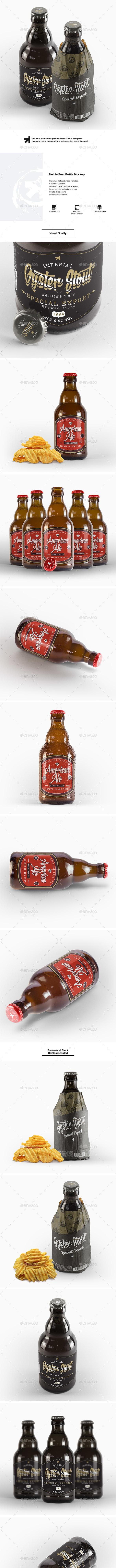 Steinie Beer Bottle Mockup - Food and Drink Packaging