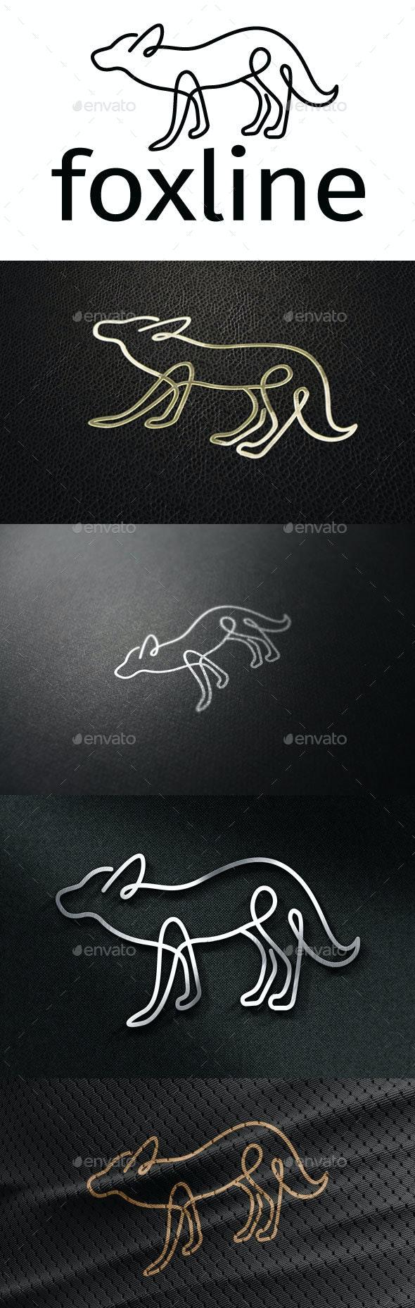Foxline Logo - Animals Logo Templates