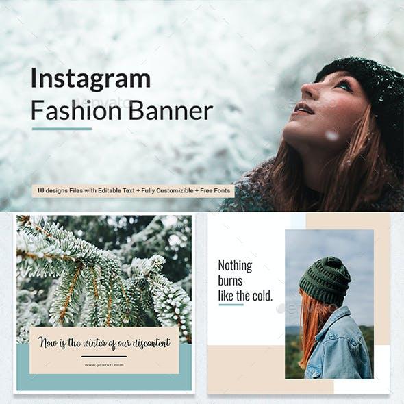 Winter Fashion Sale Banner Set