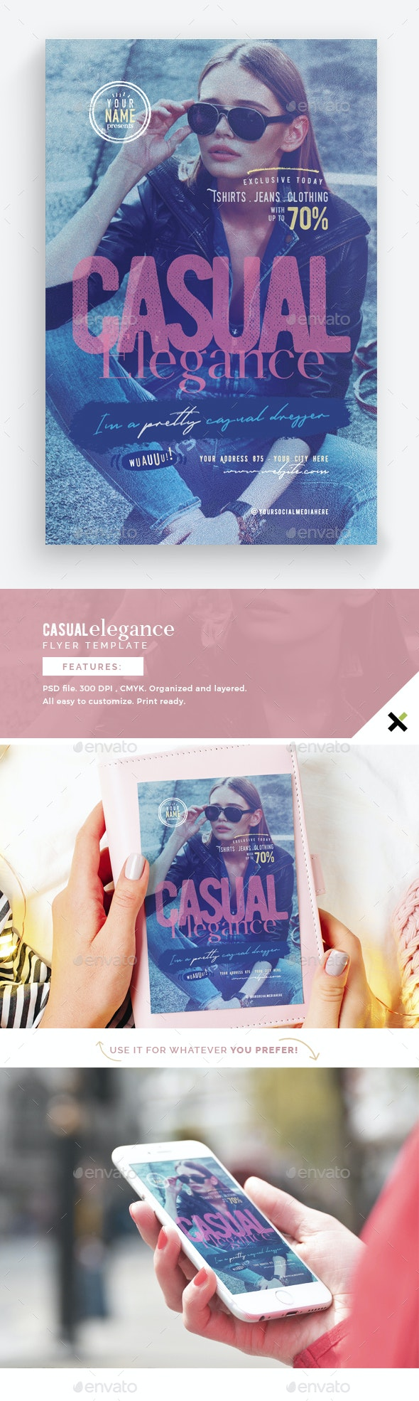 Casual Elegance Flyer Template - Flyers Print Templates