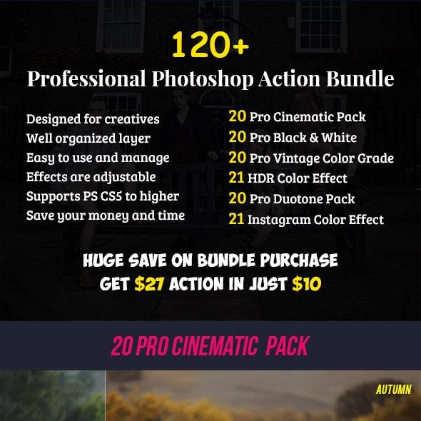 120+ Pro Photoshop Action Bundle