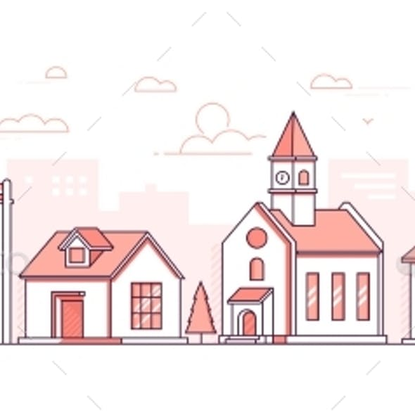 City District - Modern Thin Line Design Style