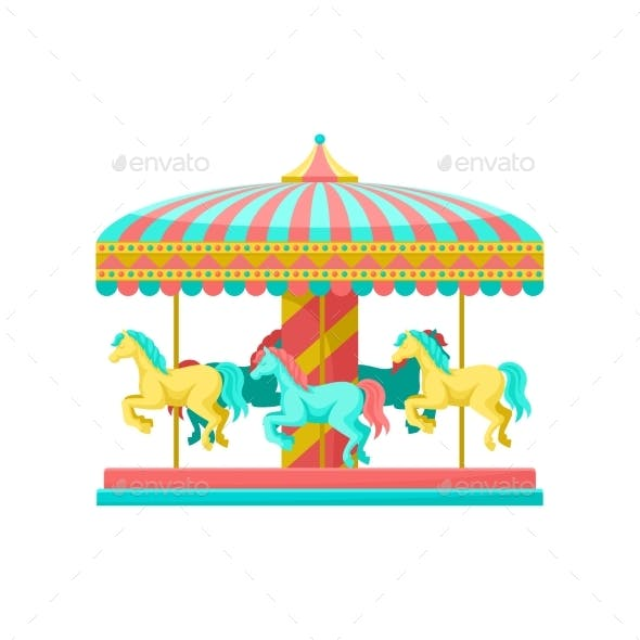 Merry Go Round Carousel with Horses