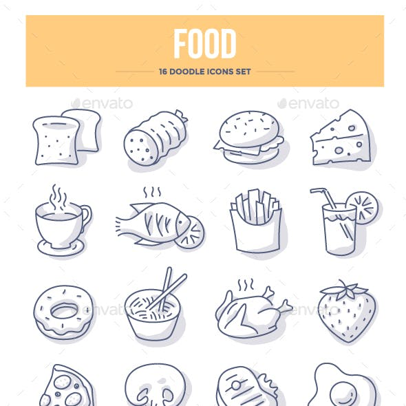 Food & Drink Doodle Icons