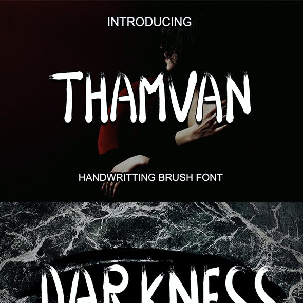 Thamvan Brush Font