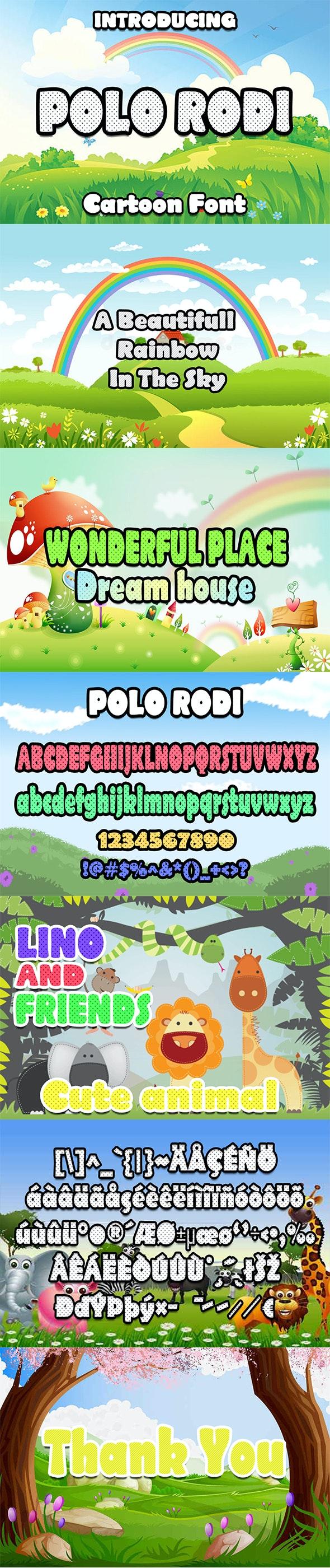 Polo Rodi Cartoon Font - Cool Fonts