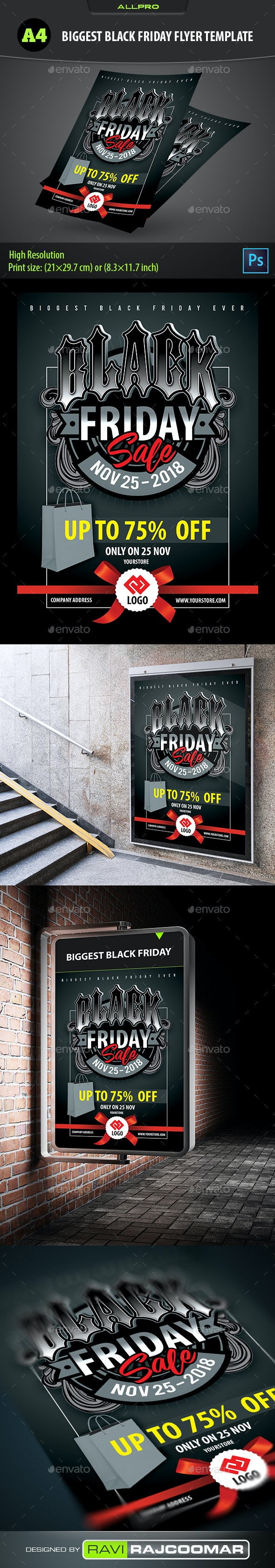Biggest Black Friday Flyer Template - Flyers Print Templates