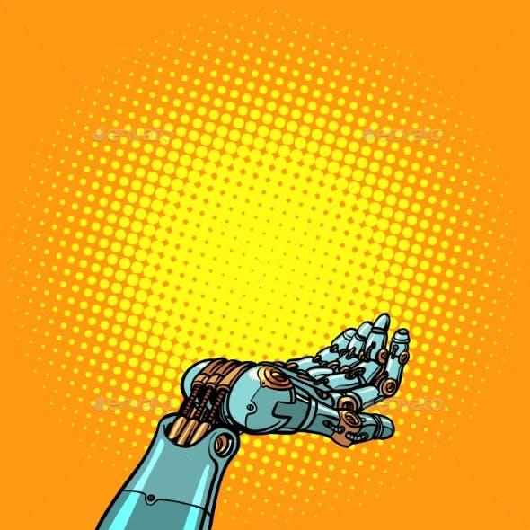 Robot Hand Presentation Gesture