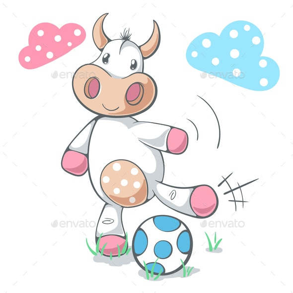 Cow Plays Soccer - Animals Characters