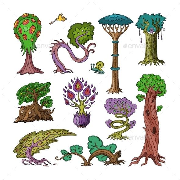 Magic Tree Vectors - Flowers & Plants Nature
