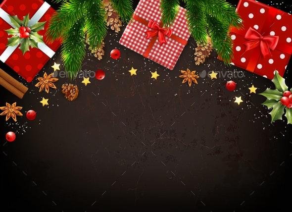 Christmas Realistic Background - Christmas Seasons/Holidays