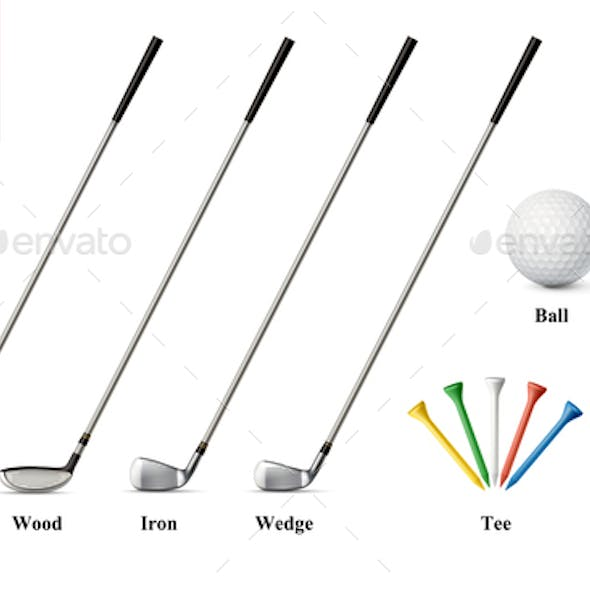 Golf Realistic Set