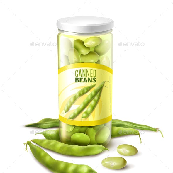 Canned Green Beans Realistic