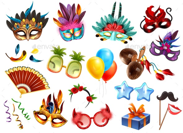 Carnival Accessories Set - Miscellaneous Seasons/Holidays