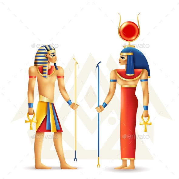 Egypt History And Culture Design Concept