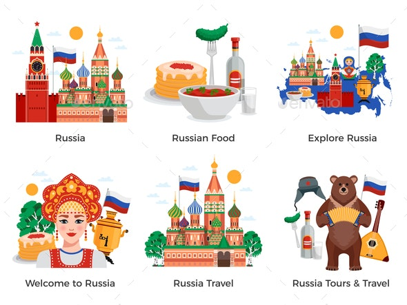 Russia Travel Compositions - Travel Conceptual
