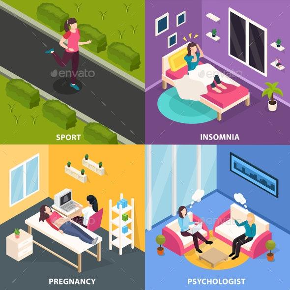 Women Health Design Concept - Miscellaneous Vectors