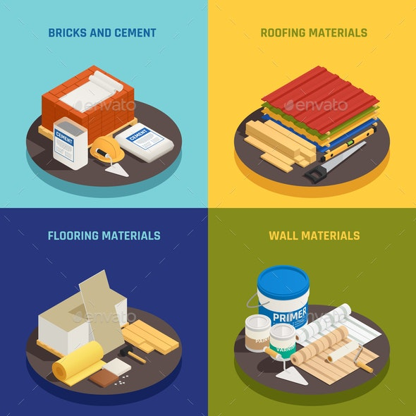 Building Materials Design Concept - Industries Business