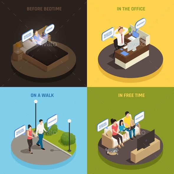 Gadgets Everywhere Design Concept - Miscellaneous Vectors