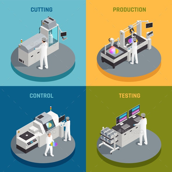 Semiconductor Production Design Concept - Industries Business