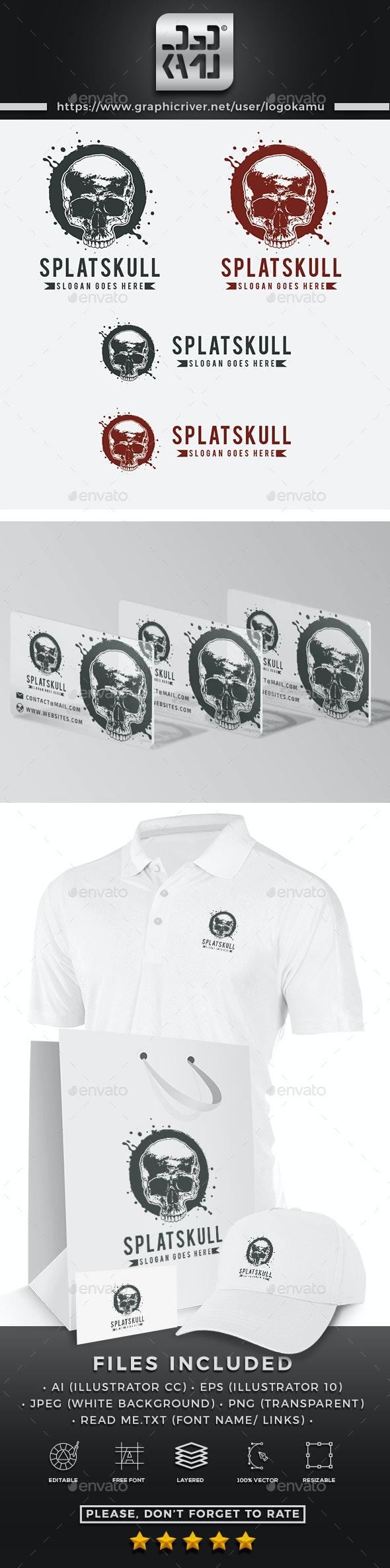 Splat Skull Logo