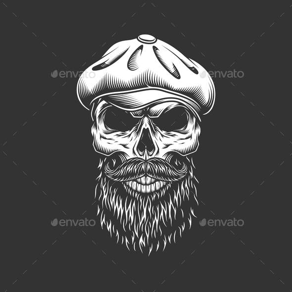 Vintage Irish Skull