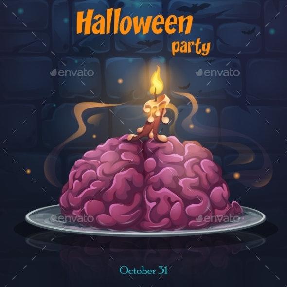 Halloween Party - Brains on the Plate - Halloween Seasons/Holidays