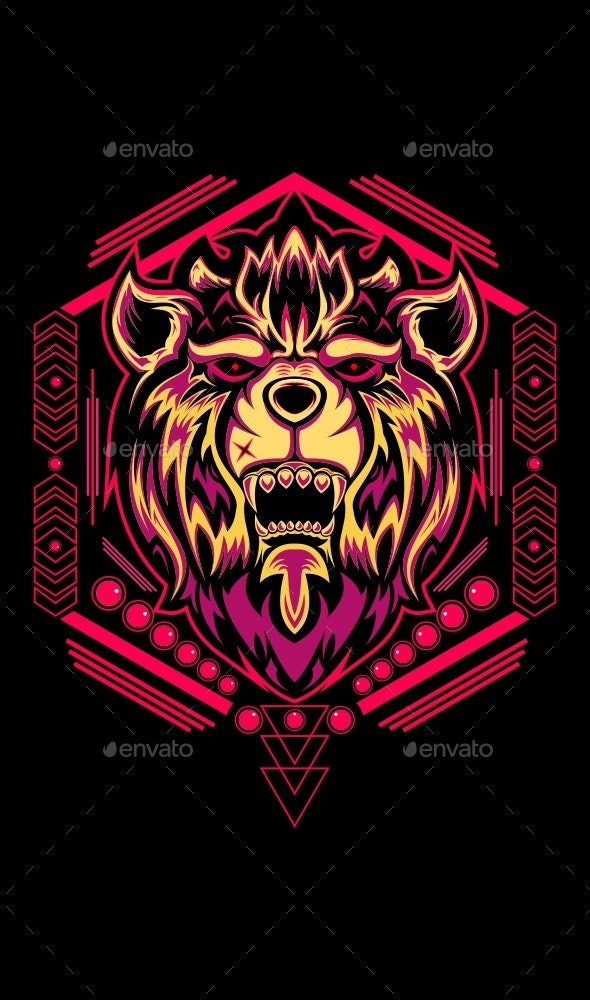 Lion Head - Animals Characters