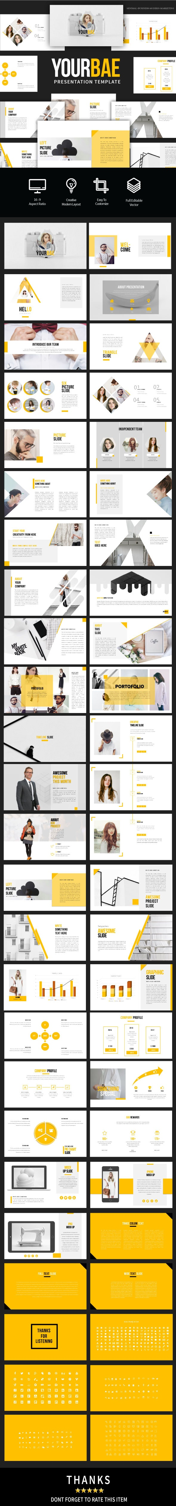 Yourbae Keynote Presentation Template - Business Keynote Templates