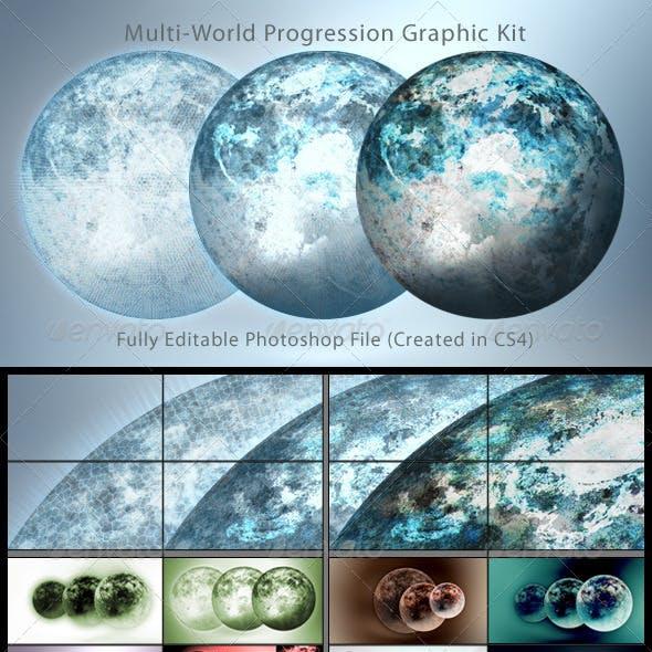 Multi-World Progression Graphic Kit