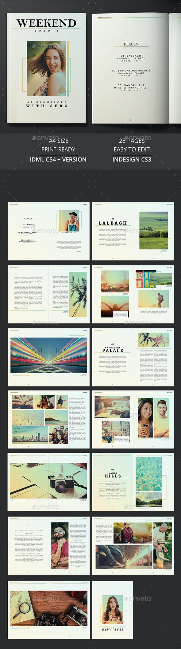 Travel Magazine - Brochures Print Templates