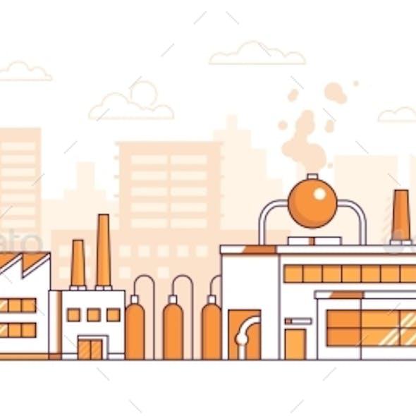 City Factory - Modern Thin Line Design Style