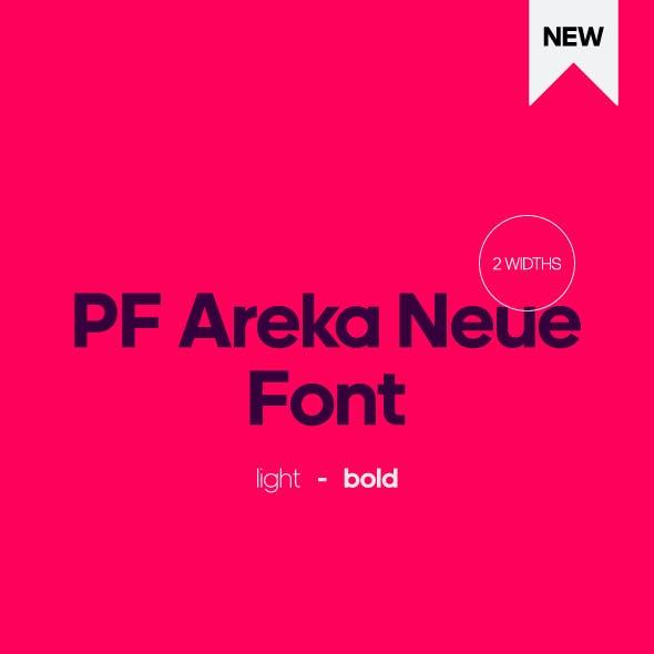 PF Areka Neue Font