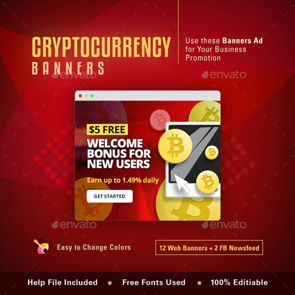 Cryptocurrency Wen Banner Set