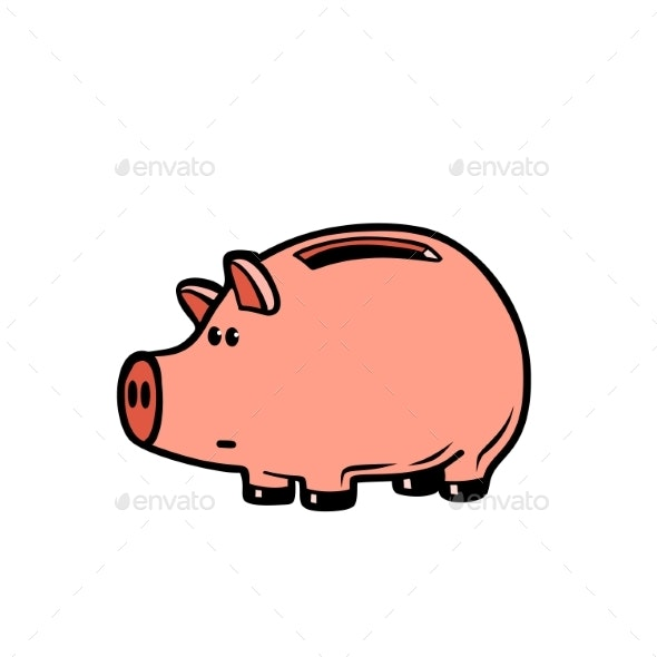 Piggy Bank Character - Concepts Business