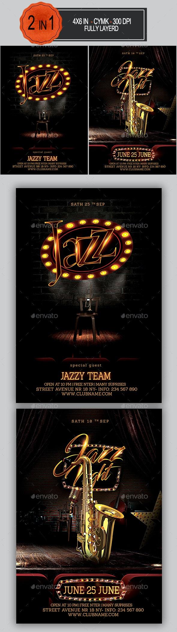 Jazz Flyer Bundle - Clubs & Parties Events