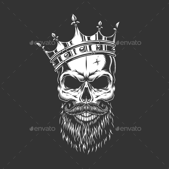 Prince Skull in Crown - People Characters