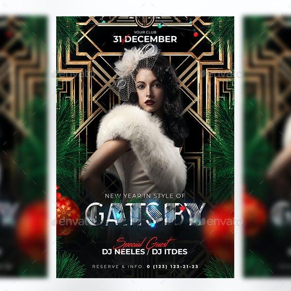 Gatsby New Year Flyer