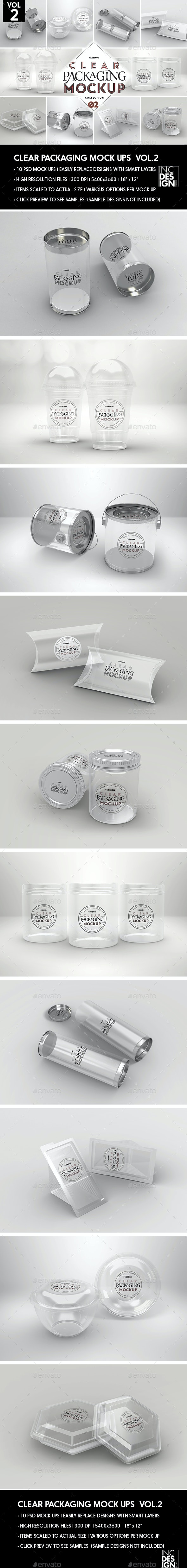 Clear Packaging MockUps 02 - Packaging Product Mock-Ups