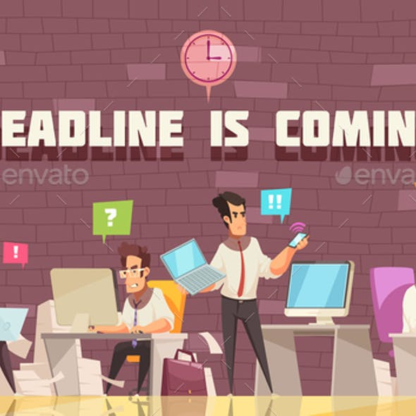 Deadline is Coming Vector Illustration