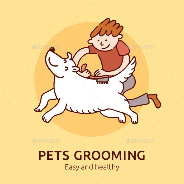 Pet Grooming Poster - Animals Characters