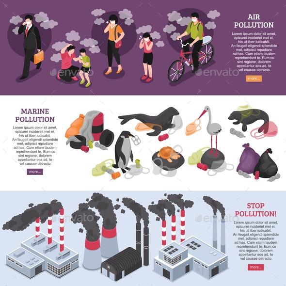 Pollution Banners Set - Miscellaneous Conceptual