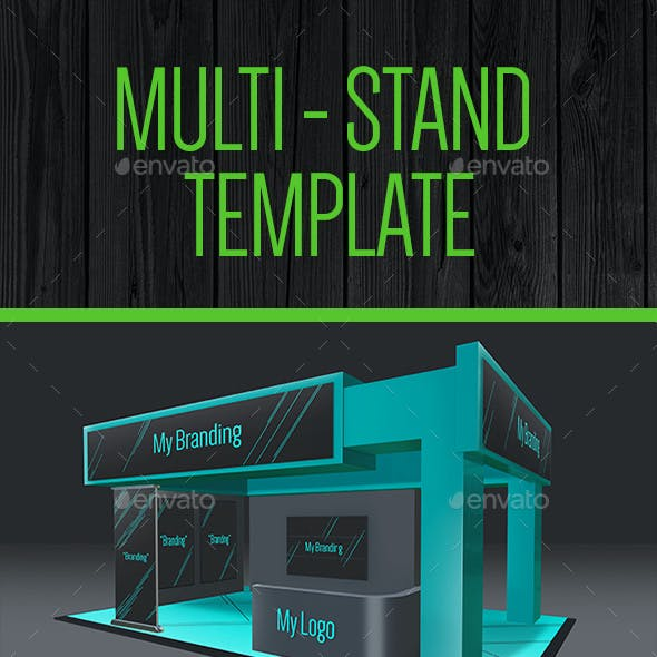 Multi Exhibition Stand Mock - Up