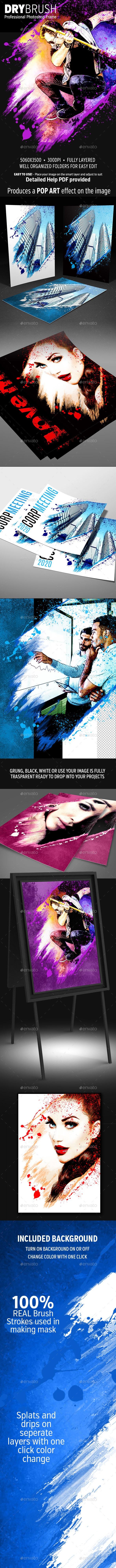 DRYbrush Photo Template - Photo Templates Graphics