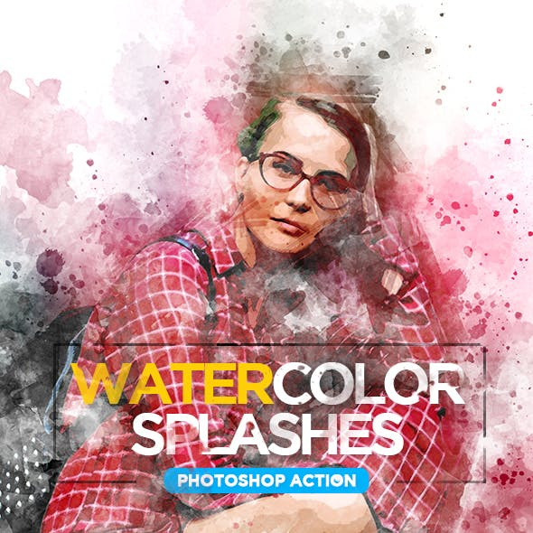 Watercolor Splashes - Photoshop Action