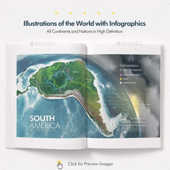 Illustrations of the Earth and Infographics